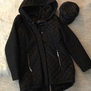 French Connection Quilted Anorak Jacket -Black M